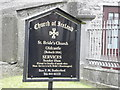 Information Board at St. Bride's Church of Ireland, Oldcastle
