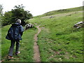 Path leading to the Loughcrew Tombs
