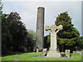 Kells, round tower and Celtic High Cross, County Meath