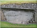 Carved stone in the rear outer wall of the Newgrange Tomb