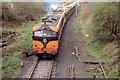 Gypsum train departing Navan