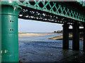 Railway bridge & estuary: Laytown