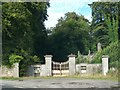 Ornamental gates and derelict lodge at Bective