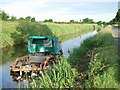 Weed cutting boat on the Royal Canal, near Enfield, Co. Meath