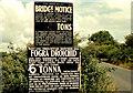 Railway bridge signs near Drogheda